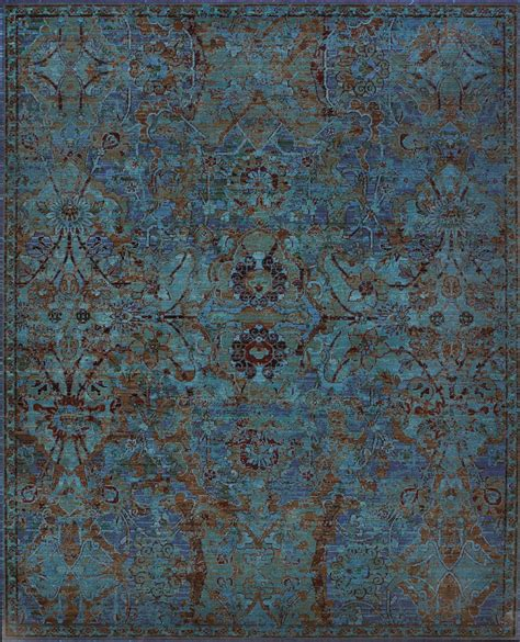 Nourison Timeless Tml02 Peaco Peacock Area Rug Rugs A Bound Peacock Blue Area Rug