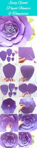 Easy Flower Template by 25 Best Ideas About Paper Flowers On