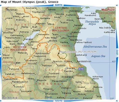 mt olympus   map greece