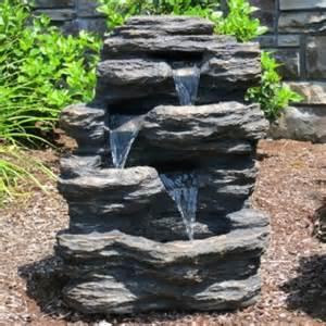 Rock Garden With Water Feature Buy 24 Quot Rock Waterfall Garden W Led Lights Garden Water Feature Patio