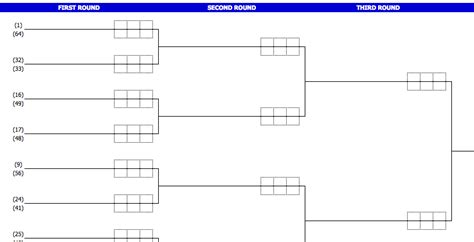 tournament schedule template tournament bracket template excel