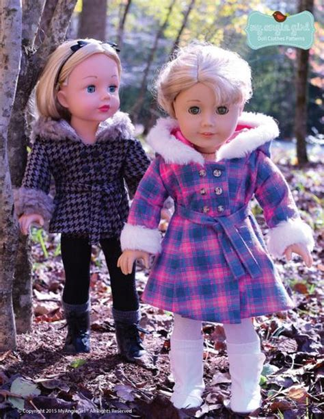 angie girl  warm winter coat doll clothes pattern