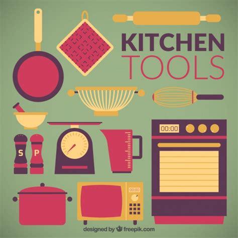 uso gratuito appartamento appartamento kitchen tools collection scaricare vettori