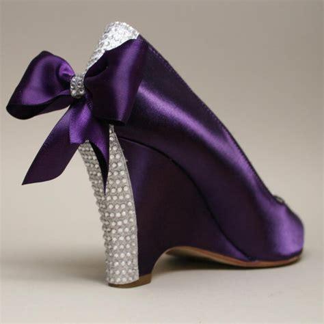 Purple Wedding Shoes by Shoe Addiction Wedding Shoes Purple Wedding Wedges With