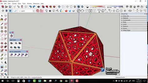 islamic pattern skp icosahedron islamic patterns sketchup youtube