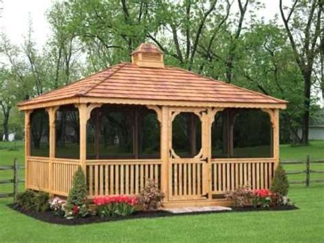 wood plastic pavilion building plans  outdoor youtube