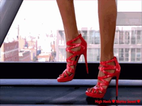 animation walking on the treadmill with high heels high