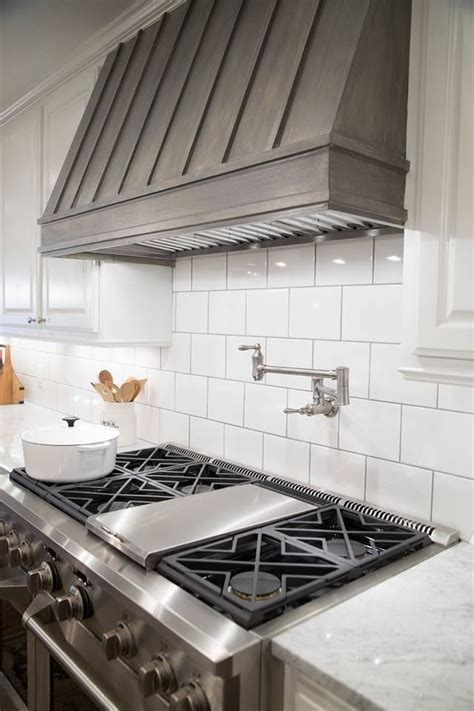 large subway tile backsplash killer extra large subway tile kitchen backsplash