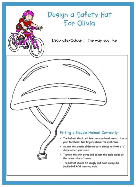 helmet design worksheet the 39 best images about beavers rainbows safety on