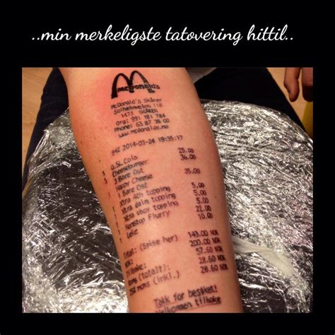 mcdonalds receipt tattoo mcdonald s receipt wtvr