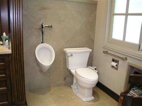 home bathroom with urinal what women think about urnials green flush technologies