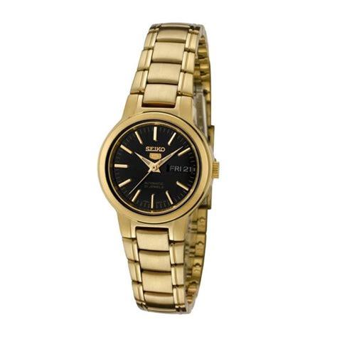 seiko s automatic gold stainless steel black