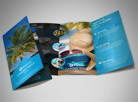 brochure template resort getaway beach resort brochure template mycreativeshop