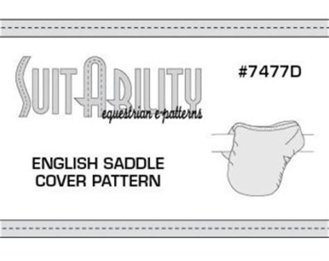 pattern english saddle cover suit ability epatterns on etsy handmade hunt