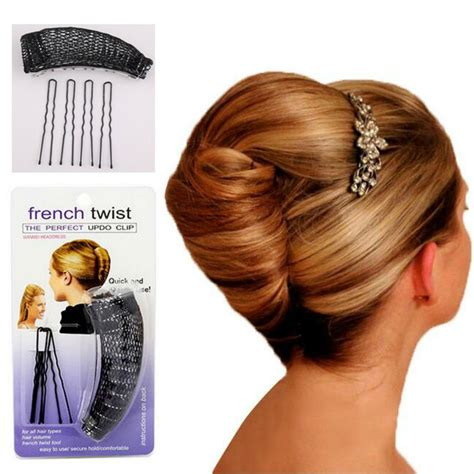 plate hair 1pc plate hair donut bun maker magic metal hair styling