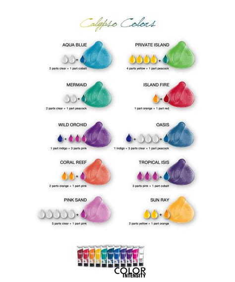 joico color joico vero k pak color intensity calypso colors shade