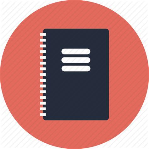 icon design handbook notebook notepad journal book report guide manual flat