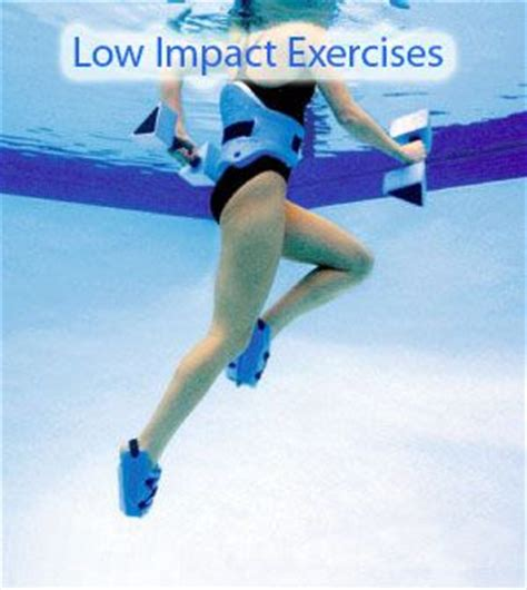 low impact exercises water belongs to sports