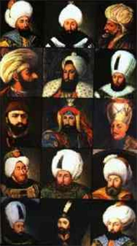 Ottoman Empire Sultans by The Ottoman Sultans All About Turkey