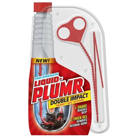 liquid plumr drain snake – Liquid Plumr Pro Strength Double Impact Liquid Drain Cleaner Snake And Gel Syste   eBay