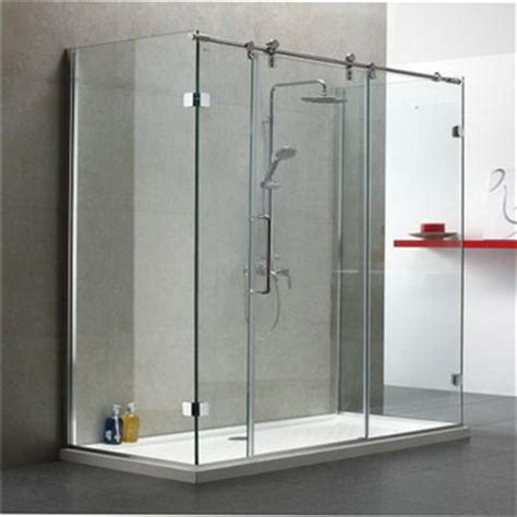 Cheap Sliding Shower Doors Single Sliding Cheap Price Frameless Clear Glass Shower Door Bathroom Shower Buy Shower Door