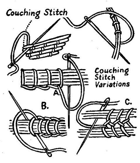 couching stitch couching stitch bordados pinterest