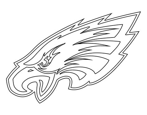 eagles coloring pages nfl philadelphia eagles logo png transparent svg vector