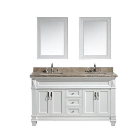 home depot design element vanity design element hudson 61 in w x 22 in d x 34 in h