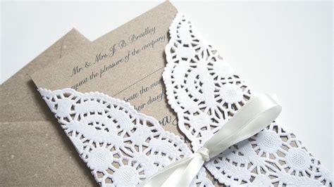 invitaciones con blondas de papel piku originales ideas con blondas de papel todo bonito