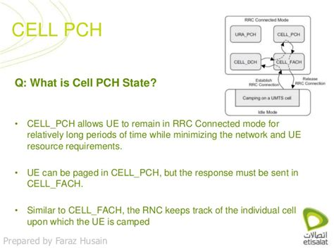 Pch Questions - cell pch state some questions answered