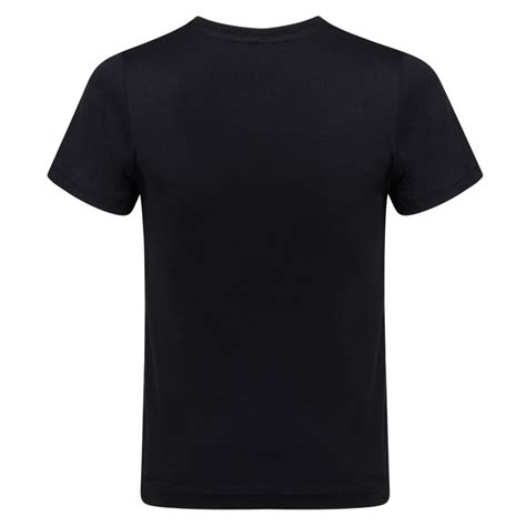 Black T Shirt dkny boys plain black t shirt with white logo print dkny