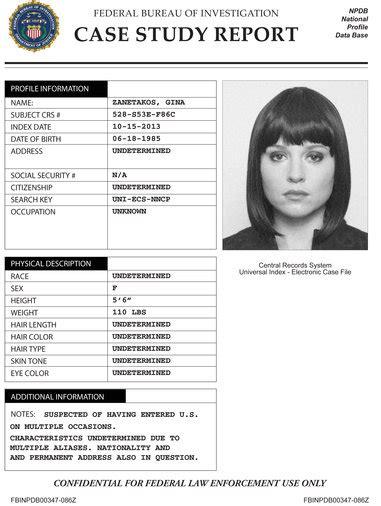 image gina zanatakos case study jpg the blacklist wiki