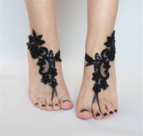 Lace Sandals Wedding by Black Lace Sandals For Wedding Foot Jewelry Bridal