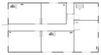Floor Plan Template by Network Layout Floor Plans Solution Conceptdraw Com