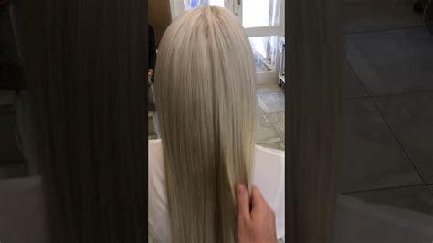 platinum weavon erabella clip in hair extensions platinum blonde 280gram