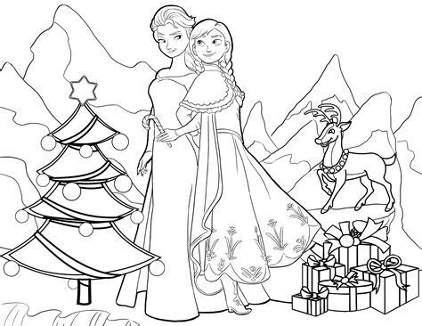 elsa christmas coloring pages printable anna elsa christmas twistermc