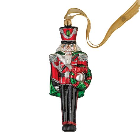 nutcracker with wreath christmas ornament gump s