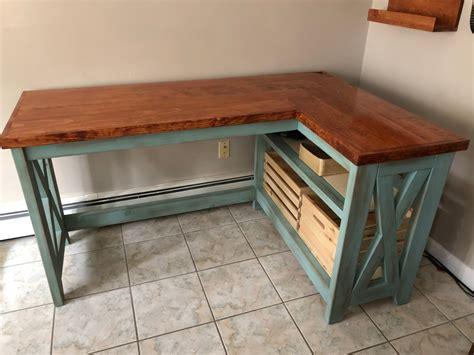 farmhouse  desk  woodworking plancom