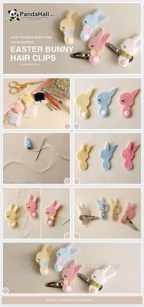 how to make clip how to make baby hair accessories easter bunny hair