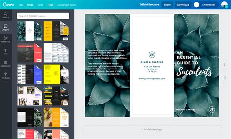 brochure layout maker online brochure design templates free free online brochure