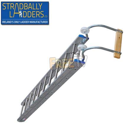 ladder on a roof 20ft aluminium roof ladder from stradbally ladders