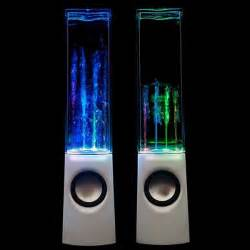 colorful water speakers put a tiny bellagio