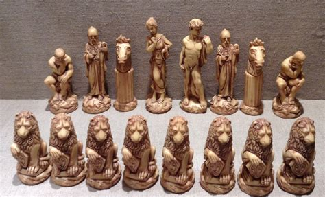 ancient chess set a 20th century ivorine chess set of ancient rome taste