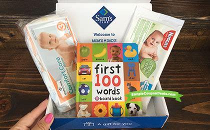 hot free sam s club baby box no purchase necessary free 20 gift card w