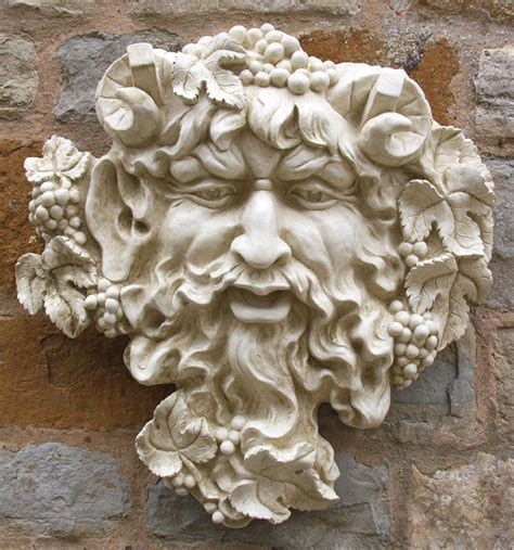 garden wall ornaments uk garden ornament bacchus garden ornaments find