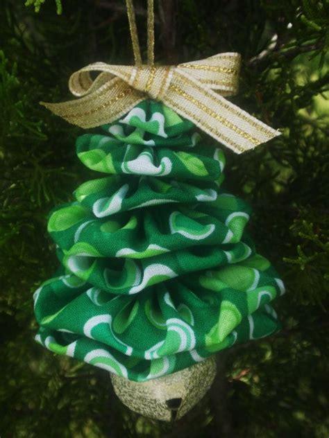green dot circle jingle bell yo yo christmas tree ornament
