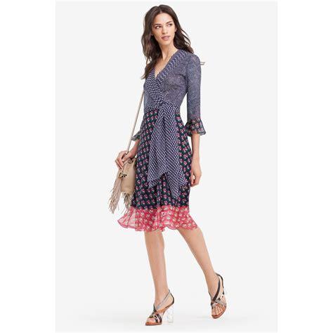 Fashion Diane Furstenberg Chiffon Wrap Dress by Diane Furstenberg Nieves Silk And Chiffon Wrap Dress