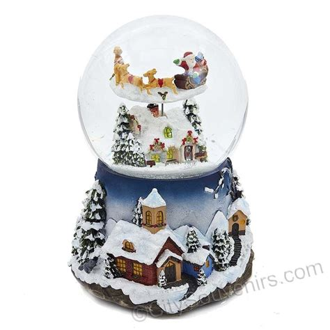 santa claus is coming to town musical snow globe