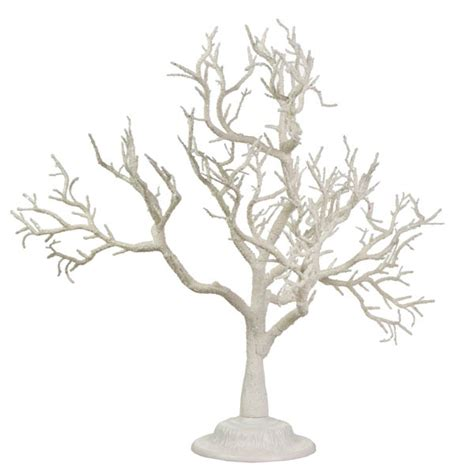glittered frosted white branch twig tree 55cm