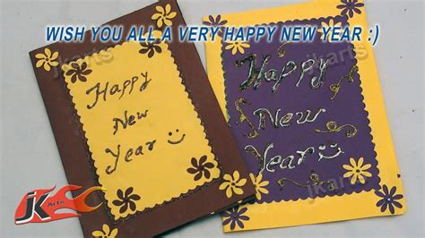 how to make new year greeting cards diy punch craft new year greeting card school project